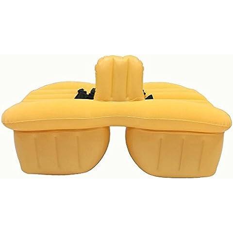 amarillo PVC reúne a prueba de golpes coche inflable colchón seguro durabilidad resistente al desgaste asiento trasero extendido colchón Confortable comodidad inflación SUV coches viajes colchón de la cama