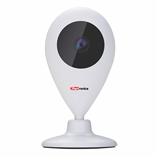 Portronics POR-797 SeeSaw II Smart Wi Fi IP Security 720P Camera, 64GB SD Card Stores Recording, TWO-WAY Communication