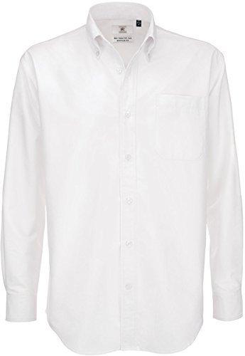 B&c oxford shirt, camicia casual uomo, white (white), xxxx-large