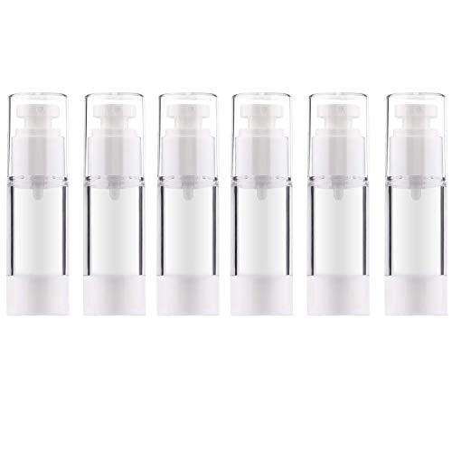 Allecommercial Luftlose Pumpflasche, nachfüllbar, leer, transparent, für Reisen, Lotion, Vakuum-Pump-Flaschen für Foundation, Essenz, Lotion (30 ml) - 30-ml-pump-flasche