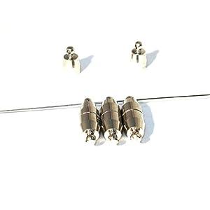 3 Magnetverschlüsse, Verschluss, Olive, 19x6mm, silber, U46
