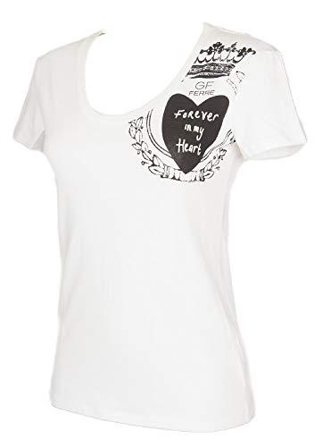 170dd7b2f0af7 GF FERRE' T-Shirt Woman Short Sleeve Crew Neck Shirts Modal Item 4F7770  Made in Italy