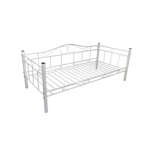 vidaXL Tagesbett 90x200 cm Einzelbett Bettgestell Metallbett Bett Bettsofa