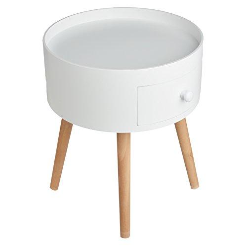 Limal Beistelltisch, Holz, Weiß, 38,5 x 38,5 x 45,5 cm
