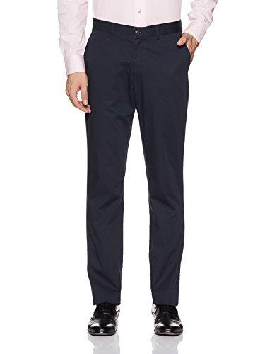 Blackberrys Men's Formal Trousers (8903016989296_BP-CASPIAN_30W x 36L_Deep Navy)