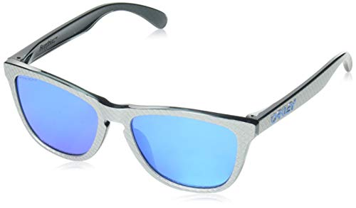 Oakley Men's Frogskins (a) Non-Polarized Iridium Rectangular Sunglasses, Checkbox Silver, 54.5 mm