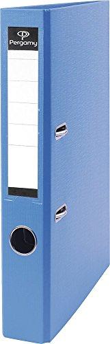 Pergamy 900839 Ordner mit Kunststoffbezug A4 5cm hellblau
