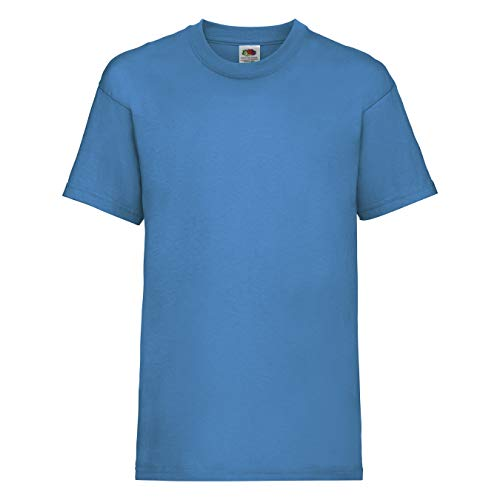 Fruit of the Loom - Kids Value Weight T Age 9-11,Azure Blue