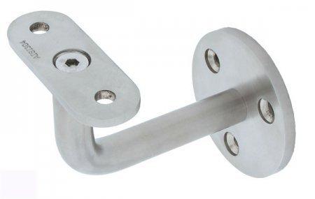 Edelstahl Handlaufhalter Handlaufträger mit flacher Anschraubplatte - 3 Loch (S010167-4)