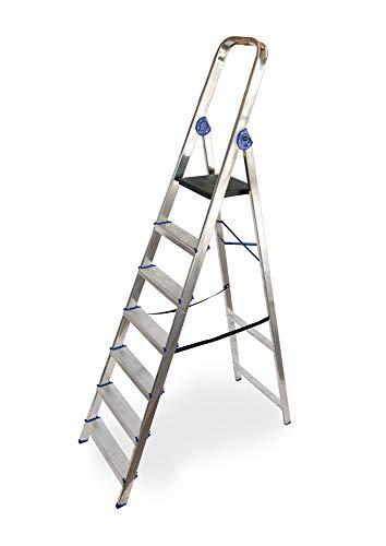Escalera domestica de aluminio Altipesa (Aluminio, 7 PELDAÑOS)