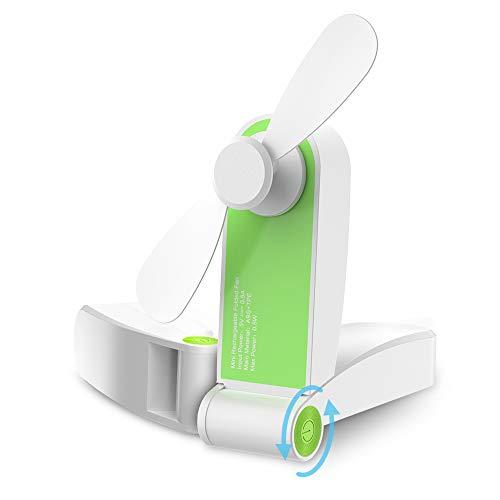 GeeRic Mini Faltbarer Fan,USB Ventilator Lüfter Handventilator Wieder aufladbarer Batterie betriebener Reise Ventilator USB Schreibtisch-Fan für Büro, Haus, Outdoor