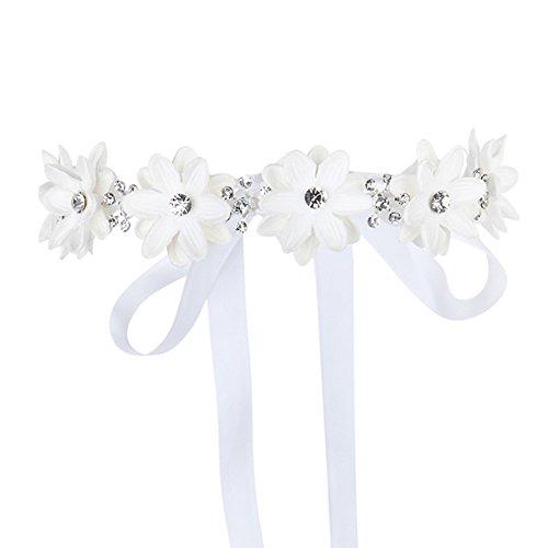 en Kranz Stirnbänder Blumenmädchen Haarschmuck Hochzeit (Kleid Für Blumenmädchen Bei Hochzeiten)