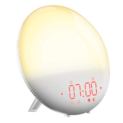 Mpow Reloj Despertador Digital, Despertadores Digitales, Reloj de Pantalla Curva LED de 5...