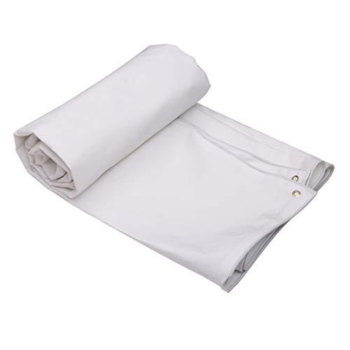 GRPB Weiße Poncho Sonnencreme Mantel Staubschutz Teich Liner Gartentisch Abdeckung Zelt Kunststoff Groundsheet Anker für Camping Boot Rack Pflanzen Tarps (größe : 4mx3m)