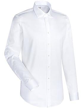 JACQUES BRITT Business Hemd Slim Fit 1/1-Arm, extra lang Bügelleicht Uni / Uniähnlich City-Hemd Kent-Kragen Manschette...