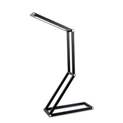 WMC 3W LED Schreibtischlampe Schreibtischleuchte, tragbare 4-Segment-LED-Multifunktionsleuchte zum Falten, zum Lesen, Studieren und Arbeiten,Black