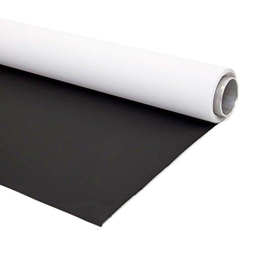 Pixapro Fond en vinyle réversible Double face pour photographie et production Vidéo 2x 4m Noir et Blanc