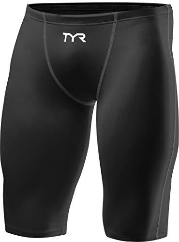 TYR Herren THRESHER Male Short Combinaison, Noir gris, 30 (Tyr-triathlon-anzug)