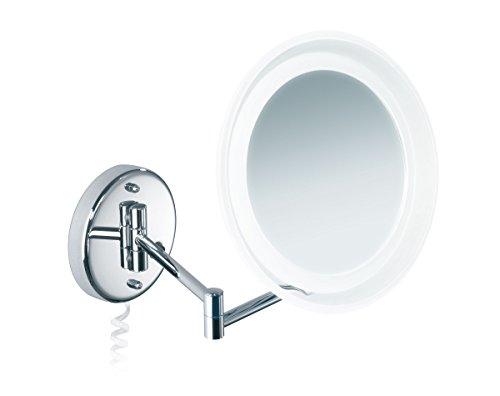 Nicol 4024900 MARIE Kosmetikspiegel mit LED-Beleuchtung, Wandspiegel 5-fach Vergrößerung