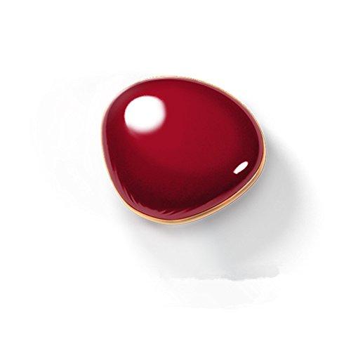Make-up-bank (Viilere Handwärmer,USB Wiederaufladbare 4000mAh Powerbank Taschenwärmer ,Tragbare Heizung Power Bank Makeup Spiegel (Rot))