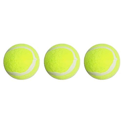 Beito 3Pcs Hundetennisball Spielzeug Welpen Interactive Gymnastikball Trainings Spielzeug-Gummi Katze Hund Tennisball