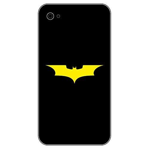 6 Stück 5cm Batman Fledermaus Handy smartphone Auto Aufkleber Tattoo die cut Decals Deko Folie (gelb)