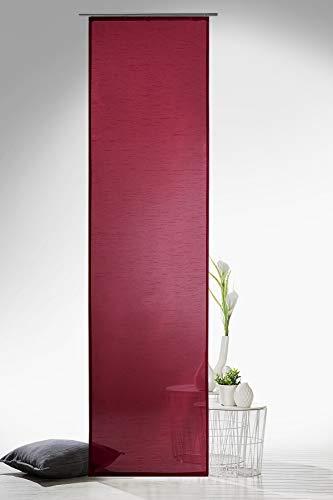 heimtexland Gardinen Schiebegardine Flächenvorhang Flächengardine Schiebevorhang, Farbe Rot, Höhe 245cm x Breite 60cm Typ118 (Flächenvorhänge Rot)