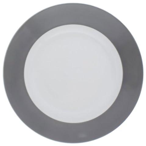 Kahla Pronto Frühstücksteller flach 20,5cm grau (Essgeschirr Platter)