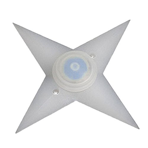 TRIXES 2-er Set blinkende Ninja Star LED Lichter in Blau für Fahrradspeichen mit 3 Einstellungen zur seitlichen Sichtbarkeit, Spaßartikel für (Star Set Ninja)