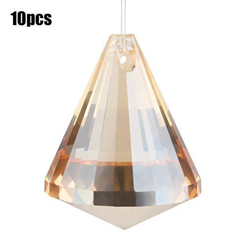 Decoraciones de iluminación de bricolaje de bola de diamante de cristal hechas a mano para el ornamento de la ventana del hogar 10pcs (2#)