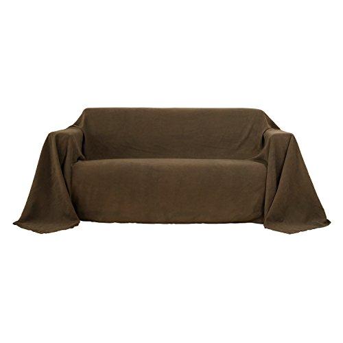 Deconovo Jeté de Canapé Jeté de lit Suédé Protéger Votre Canapé 210x280cm