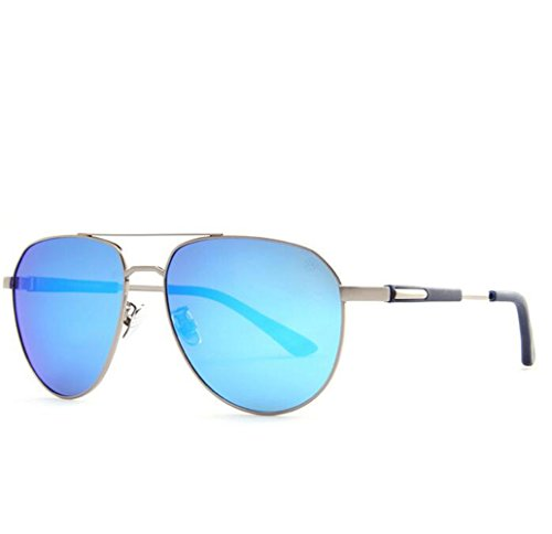 SHULING Sonnenbrille Stilvolle Offset Optische Sonnenbrille Auf Den Augen, Grau/Blau Gesicht