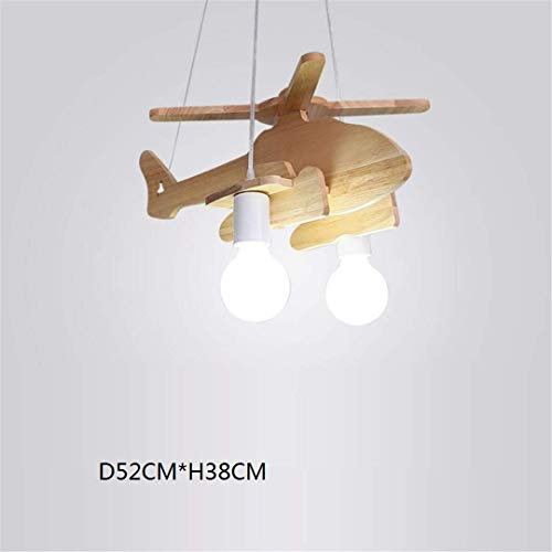 GD1 Plafonnier Nordic Simple en Bois Massif Enfant Chambre Lampe Fille Princesse Avion Lumière Bande Dessinée Garçon Chambre de Bébé Creative Chambre Lustre