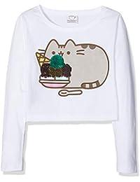 Pusheen Reversible Sequin Crop, Camiseta de Manga Larga para Niñas