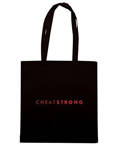 T-Shirtshock - Borsa Shopping FUN0982 cheatstrong long sleeve shirt Nero