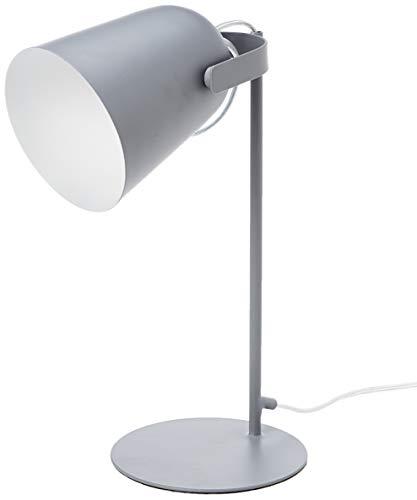 Umi. by Amazon - Lámpara de mesa, metálica, vintage, 35,56cm, gris