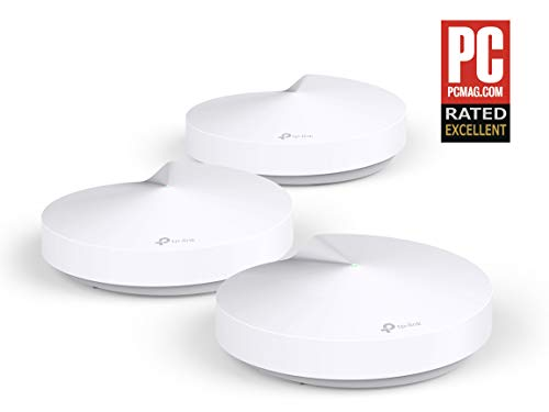 TP-LINK Deco M5(3-pack) - Sistema WiFi de Red Mesh (AC1300 Banda Dual, Bluetooth 4.2, 2 Puertos Ethernet Gigabit, 1 Puerto USB, MU-MIMO, Funciona con Amazon Alexa e IFTTT)