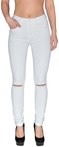 by-tex Damen Jeans Hosen Damen High Waist Jeanshosen Risse am Knie Skinny Stretch Hochschnitt Hose bis Übergröße Z72 Z73