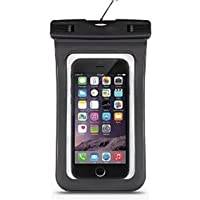Demarkt Funda Bolsa Móvil Impermeable Universal 6 Pulgadas Certificado IPX8 Funda Sumergible Móvil Transparente Sensible al Tacto para iPhone 6 / iPhone 6s , iPhone 6 Plus / iPhone 6s Plus , iPhone 5 / 5s , iPhone SE , Samsung Galaxy , LG , Monedas , Pasaporte , Samsung Galaxy S7 edge,etc