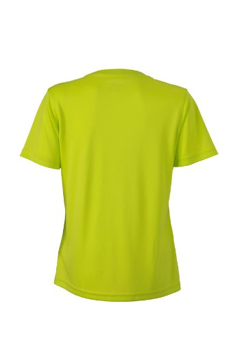 JAMES & NICHOLSON Funktions T-shirt Ladies Active - T-shirt de Maternité - Femme Jaune (Acid/yellow)