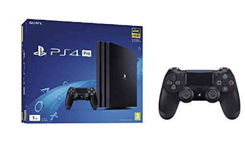 Price comparison product image Sony PlayStation 4 Pro 1TB Console - Black + Dualshock 4 - Black