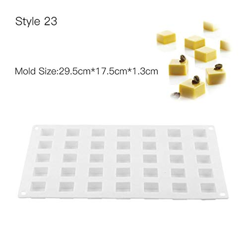 FTFSY 3D Cake Mold Baking Silicone Mousse Decorating Molds Tools for Cakes Chocolate Fondant Maker Dessert Bakaware Pan,Style 23 23 Chocolate Mold