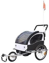 2 in 1 Jogger Fahrradanhänger Kinderwagen Kinderanhänger Fahrrad Anhänger