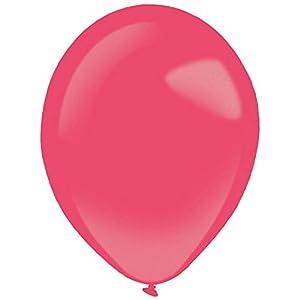 amscan 9905337 - Globos de látex (100 Unidades), Color Rojo