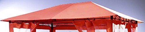 Grasekamp Ersatzdach zu Gartenpavillon Antik Pavillon Partyzelt 3x4m Terra
