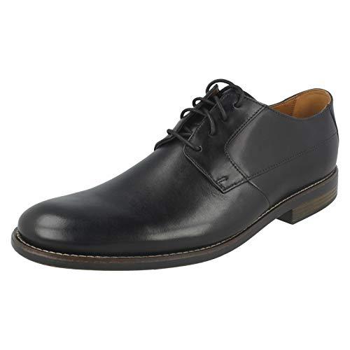 Clarks Becken Plain Mens Formal Lace Up Shoes 8 UK/ 42 EU Schwarz