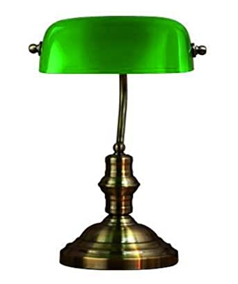 Lampe à poser « Bankers » Vert / Laiton