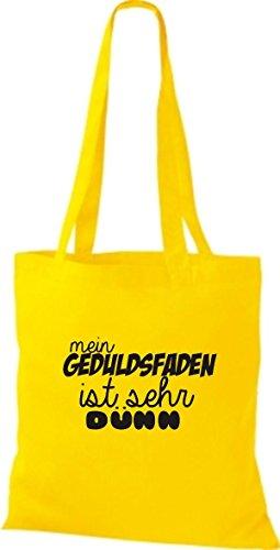 dünn Farben mein Gelb Shirtstown viele sehr ist Geduldsfaden Stoffbeutell süßer Spruch 0xqzU6Z