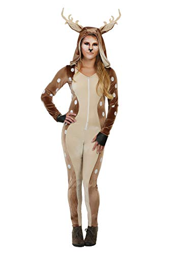 Womens Fawn Fancy Dress Costume Large
