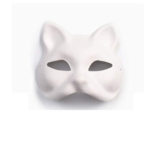 AND Kindergarten DIY Leere Facebook Maske weiß Peking Oper Pferd Löffel Kinder Malerei Halloween weiß Embryo handbemalte - Diy Halloween-kostüme Für Erwachsene Tier